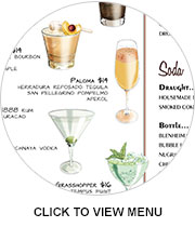 Butterfly's cocktail menu: Click to expand