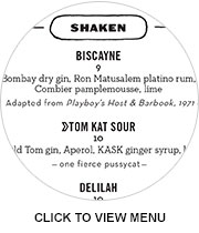 Kask's cocktail menu: Click to expand