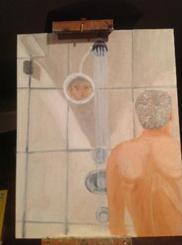 george w bush�s shower selfportrait nymag