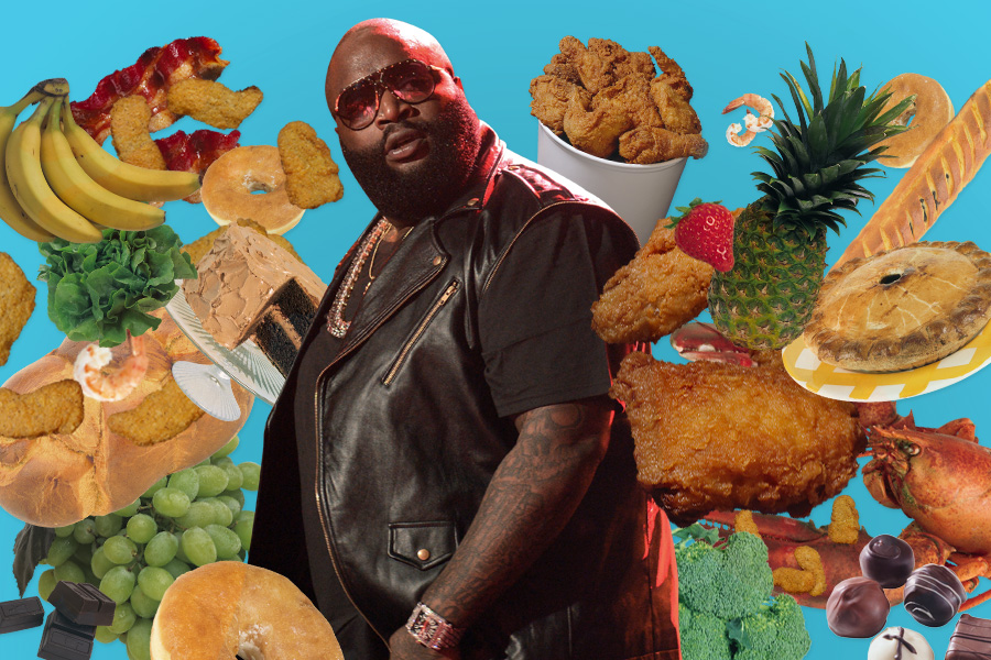 Every food item name dropped in a rick ross song vulture for What is rozay drink