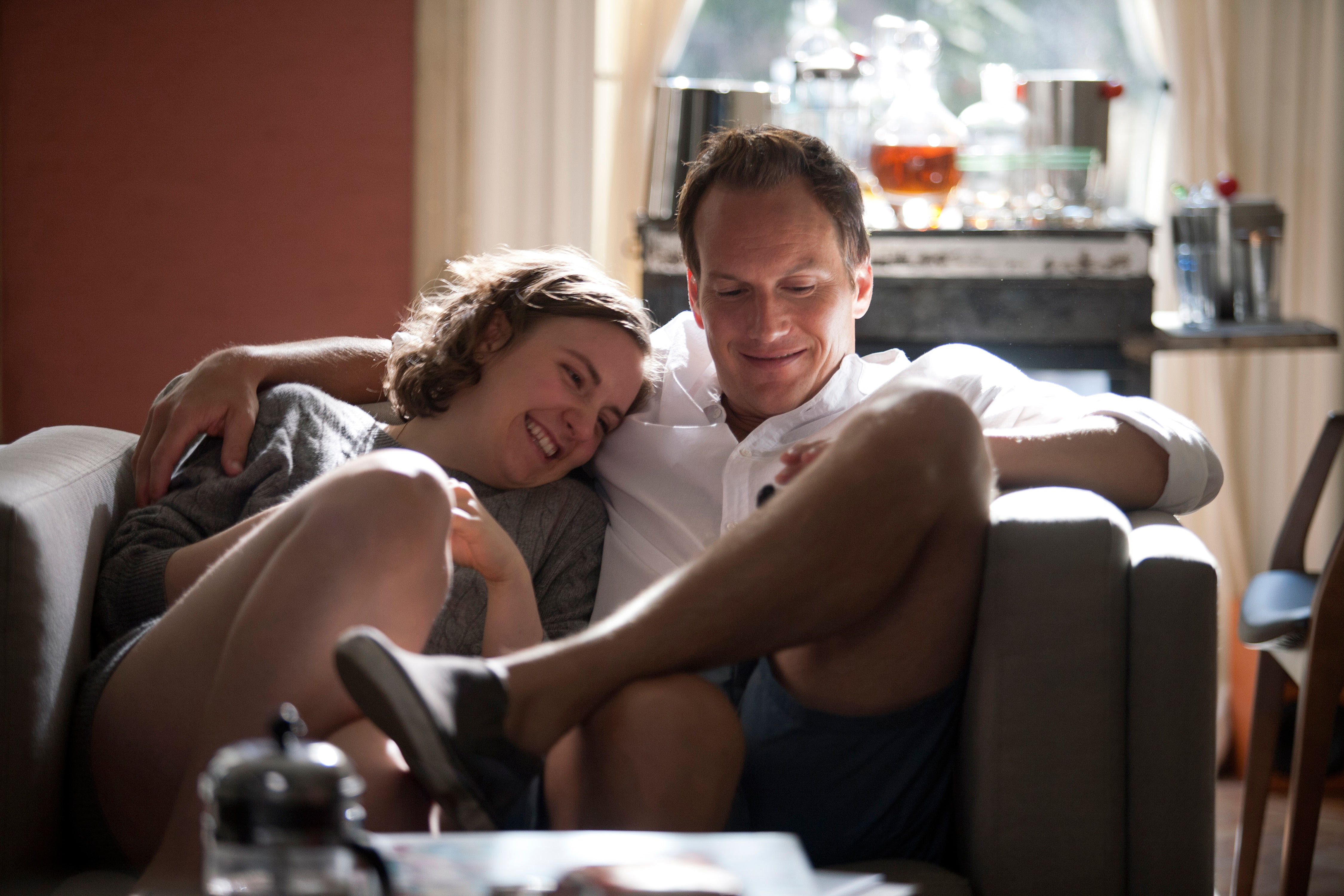 on the unlikely pairing of dunham s character with patrick wilson