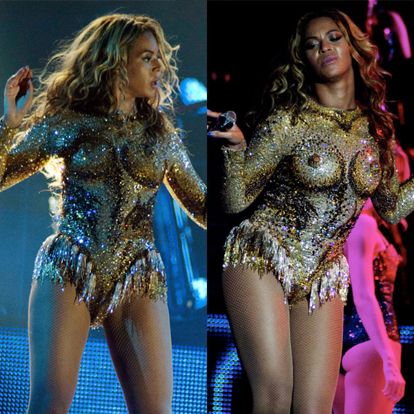 Beyonce boobs nipple