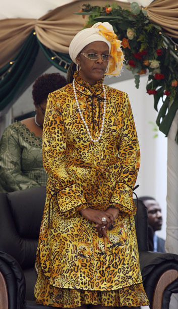 "<b>Born:</b> 1965  <b>Wife of:</b> Robert Mugabe, President of Zimbabwe, extracts personal wealth from a state-owned diamond mine while thousands needlessly die of cholera.  <b>Her Story: </b>The first lady of Zimbabwe is such a notorious shopaholic that in 2002, the EU imposed sanctions specifically to ""stop Grace Mugabe going on her shopping trips in the face of catastrophic poverty blighting the people of Zimbabwe,"" according <a href=""http://news.bbc.co.uk/2/hi/africa/2143442.stm"">to</a><a href=""http://news.bbc.co.uk/2/hi/africa/2143442.stm""> </a><a href=""http://news.bbc.co.uk/2/hi/africa/2143442.stm"">the</a><a href=""http://news.bbc.co.uk/2/hi/africa/2143442.stm""> </a><a href=""http://news.bbc.co.uk/2/hi/africa/2143442.stm"">BBC</a>. The First Shopper, as she is known, once dropped $120,000 during a single two-hour Paris spree. ""I have very narrow feet, so I wear only Ferragamo,"" she <a href=""http://www.newzimbabwe.com/pages/shopper.1156.html"">reportedly</a> explained."