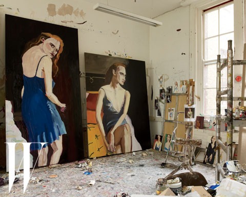 Paintings by Chantal Joffe, photographed by Suki Dhanda.