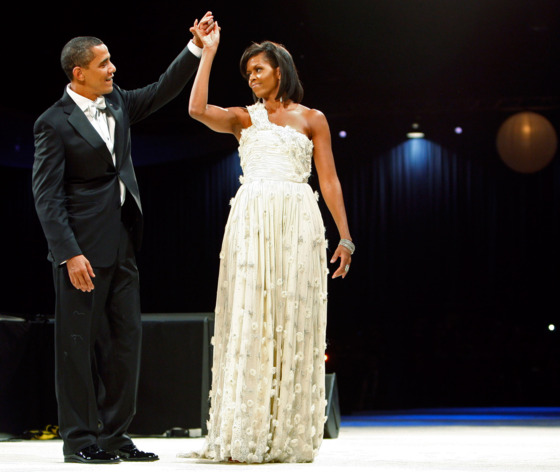 "Her first inaugural gown, designed by then little-known designer Jason Wu, pushed the designer <a href=""http://nymag.com/thecut/2009/03/jason_wu_to_launch_shoes_makeu.html"">to the mainstream</a> and the First Lady toward her future style icon status. Though speculation about MObama's second gown <a href=""http://nymag.com/thecut/2013/01/mobamas-inauguration-outfit-speculation-mounts.html"">is at a fever pitch</a> (due in part to the frequency with which her picks become bestsellers) her resistance to choosing any one designer as her hands-down favorite makes the guessing game a difficult one."