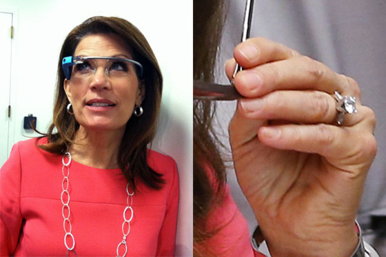 "And so we arrive at Bachmann's return to Congress, where she continues to favor dramatic eye makeup but rarely paints her nails. For her video announcement that she would not seek reelection, Bachmann wore a satin suit with pearls. Though MicheleBachmann.com, <a href=""http://www.michelebachmann.com/"">the site where she posted the video</a>, features a photograph of Bachmann wearing acrylic nails, the last time she was photographed, she was not wearing them."