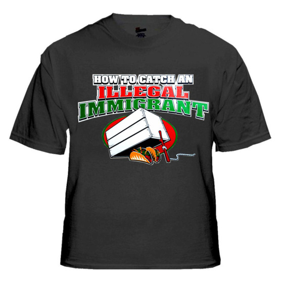"<b>Controversy:</b> Earlier this year Taco Cid — a Mexican restaurant in West Columbia, South Carolina, sold this shirt featuring two tacos in an ""illegal immigrant"" trap.  <b>Resolution:</b> The owner was unapologetic when some in the community complained and said, ""It's not racist … It's immigrants — illegal immigrants."""