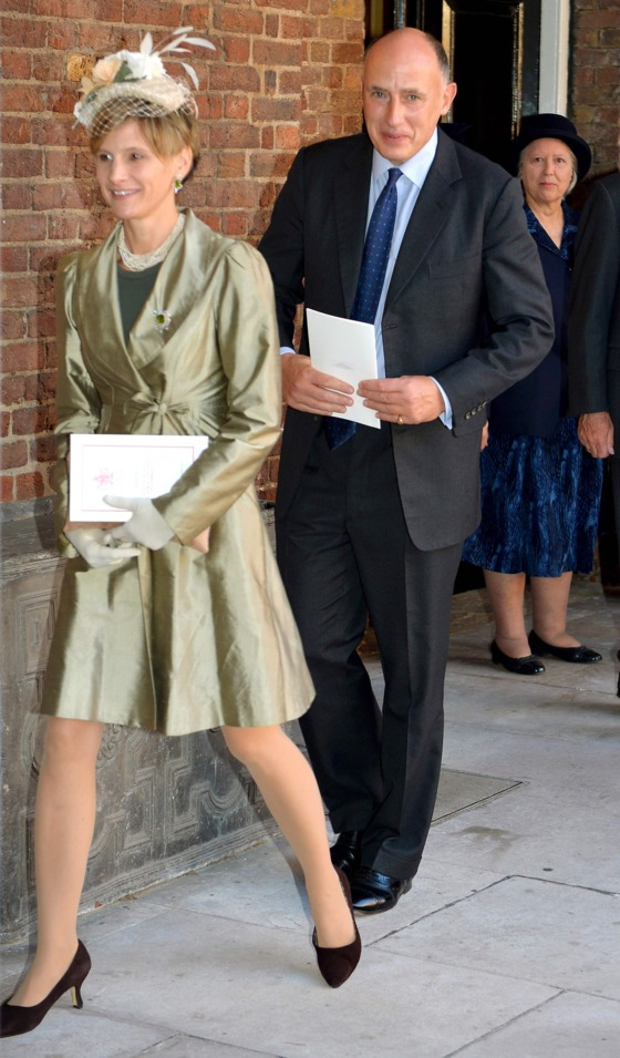 Jamie Lowther-Pinkerton, one of Prince George's godparents, and his wife.