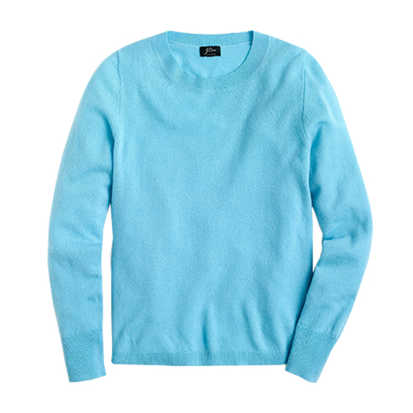 Long-sleeve everyday cashmere crewneck sweater