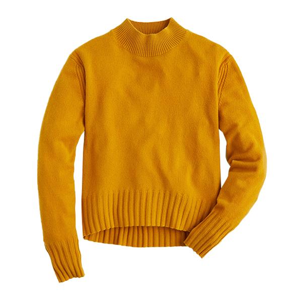 Long sleeve everyday cashmere mockneck sweater