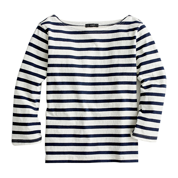 Structured boatneck T-shirt