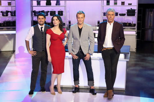 "THE TASTE - ABC's ""The Taste"" features expert chef/author Ludovic Lefebvre, British food star Nigella Lawson, restaurateur Brian Malarkey and no-holds barred chef Anthony Bourdain."