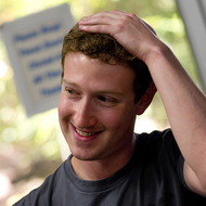 Mark Zuckerberg, co-founder and chief executive officer of Facebook Inc., listens during a press event at Facebook headquarters in Palo Alto, California, U.S., on Wednesday, July 6, 2011. Facebook Inc., the world's largest social-networking service, is offering free video calls over its site through a partnership with Skype Technologies SA. Photographer: David Paul Morris/Bloomberg *** Local Caption *** Mark Zuckerberg