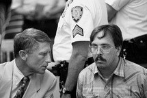 UNITED STATES - JULY 15:  Lawyer Robert Sale & murder suspect Joel Rifkin at arraignment in Mineola, Long Island.