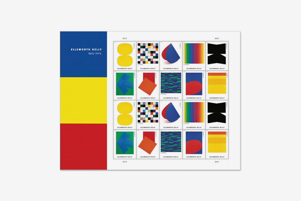 USPS Ellsworth Kelly Stamps, Sheet of 20