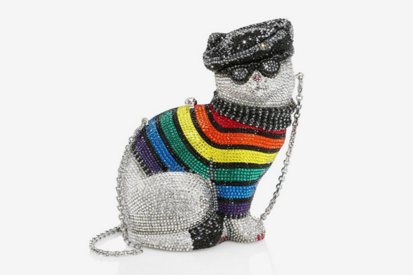Judith Leiber Couture Rainbow Christopher Cat Jeweled Clutch