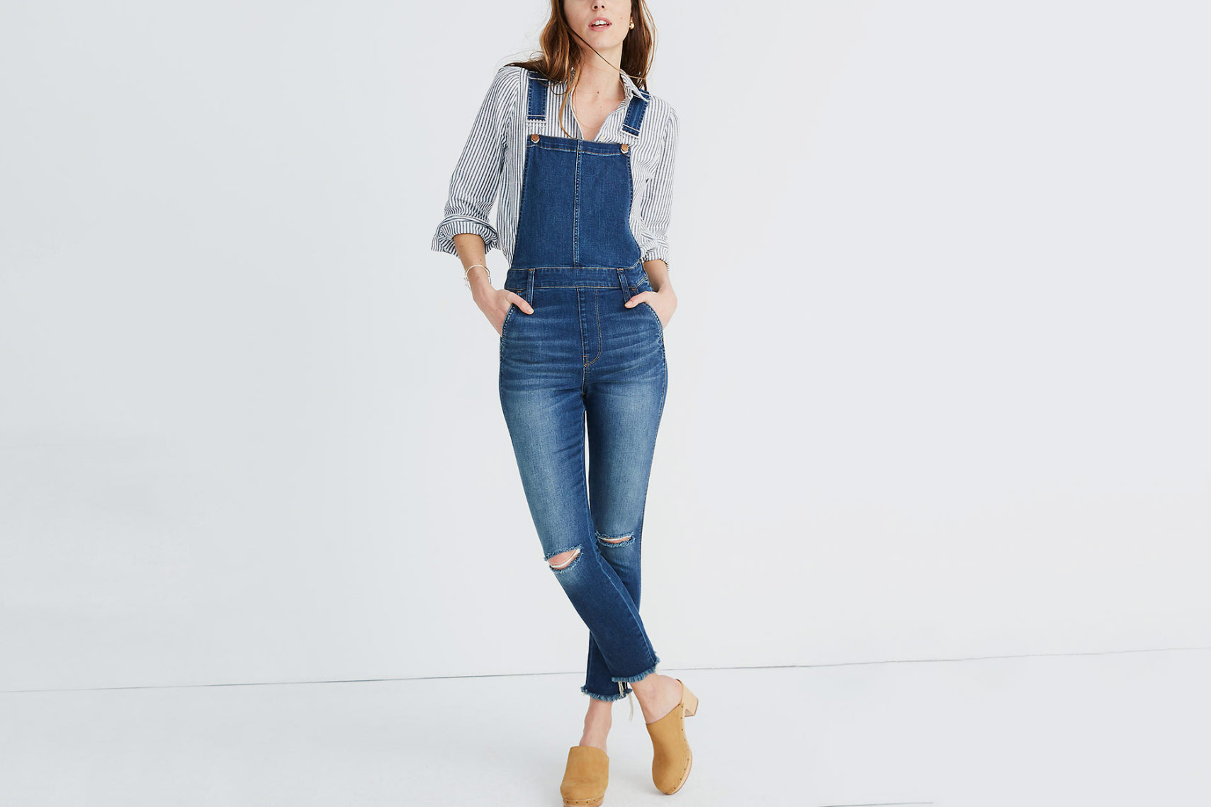 Madewell Roadtripper Overalls in Brodie Wash