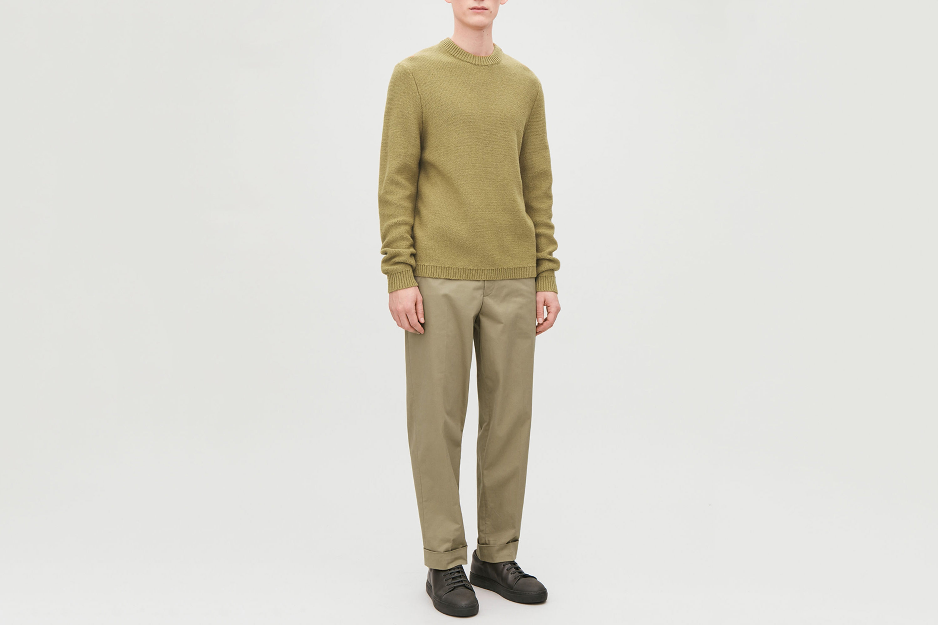 COS Brushed-Cotton Press-Fold Chinos