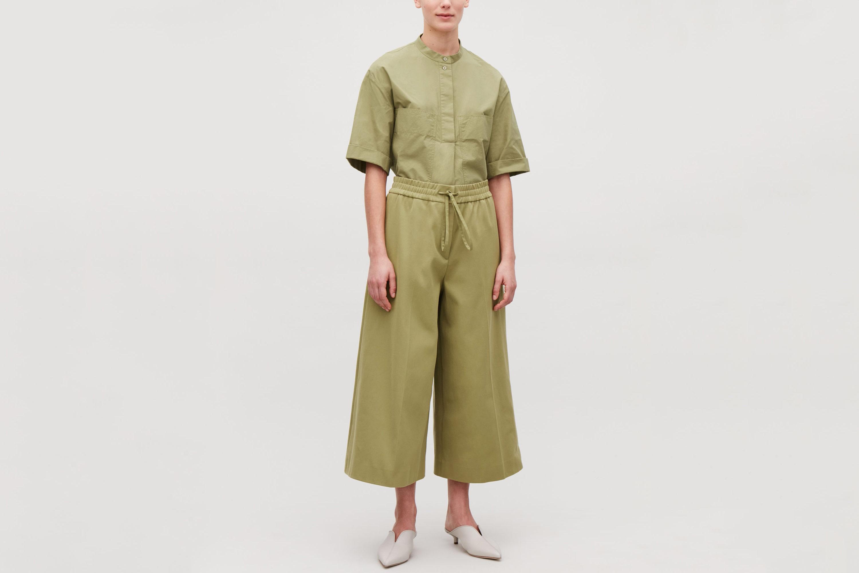 COS Wide-Leg Drawstring Trousers