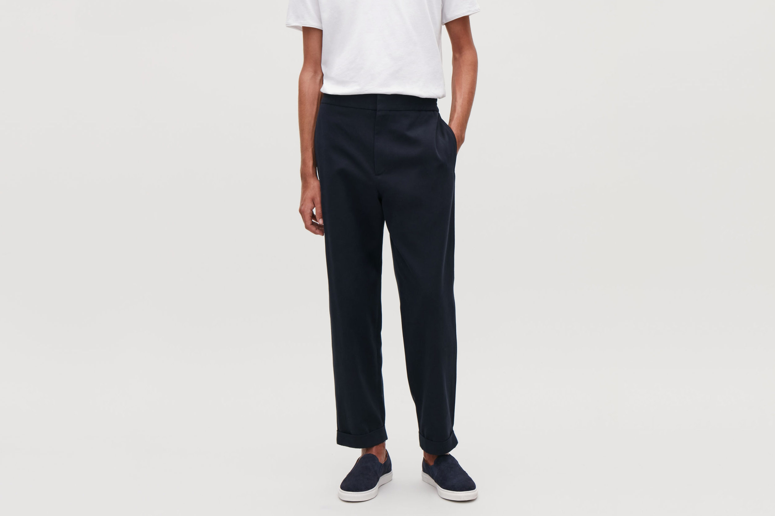 COS Tapered Cotton Trousers