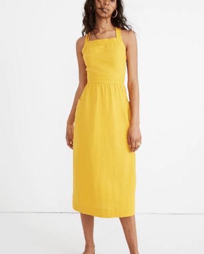 Madewell Garment-Dyed Apron Maxi Dress
