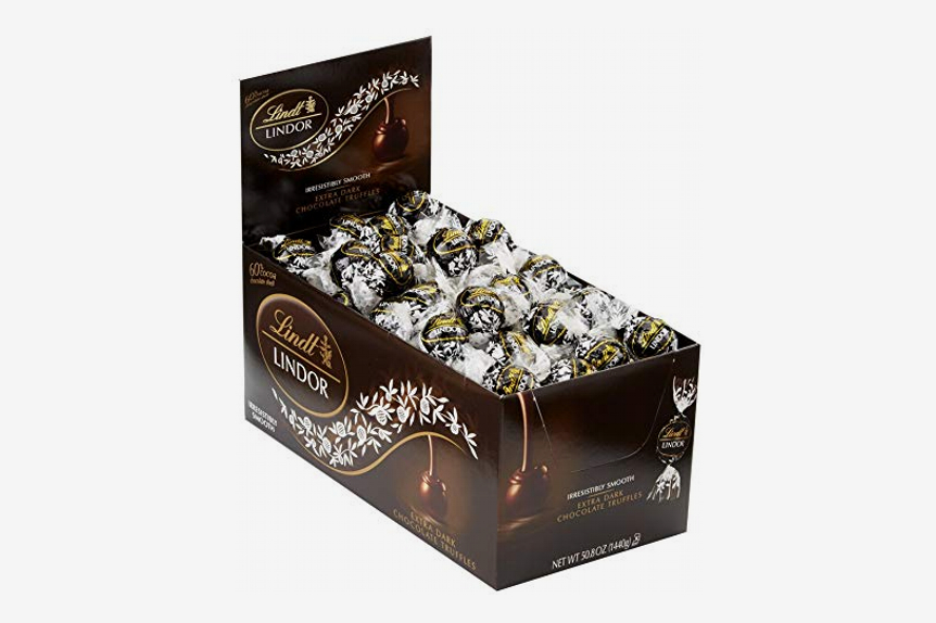 Lindt Lindor 60% Extra Dark Chocolate Truffles, 120 Count Box
