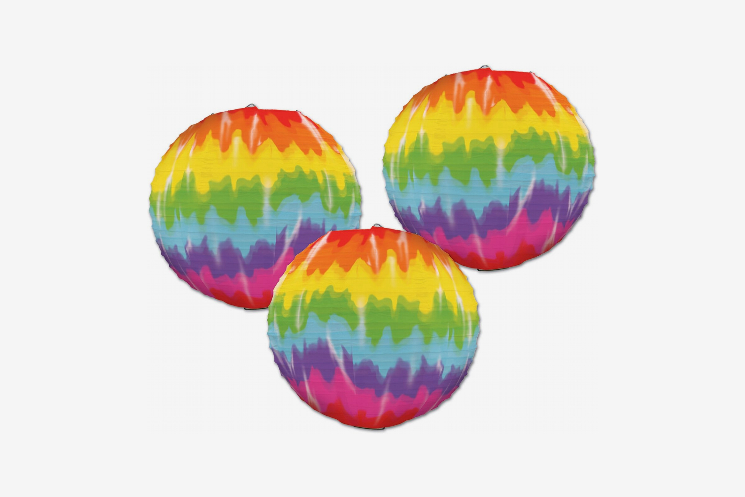 """Beistle 54564 Party Supplies, 9½"""""""", Multicolored Paper Lanterns"""