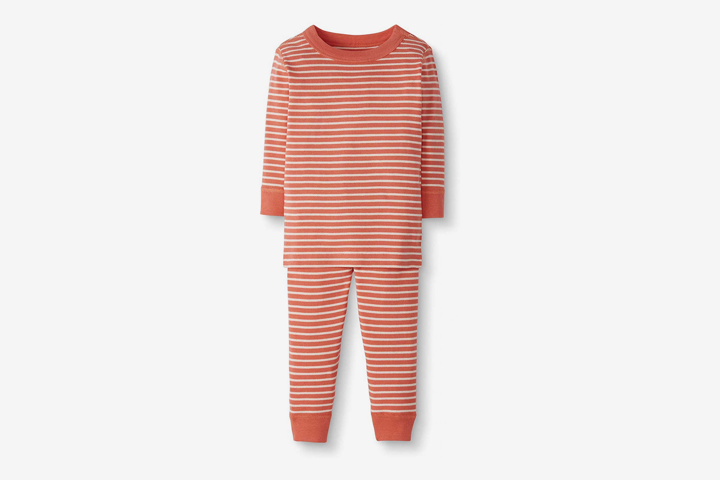 Moon and Back by Hanna Andersson Baby/Toddler Organic Cotton Long Sleeve Stripe Pajama Set,  2-Piece