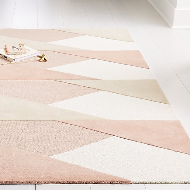 Crate&Kids Pink Modern Geometric Rug