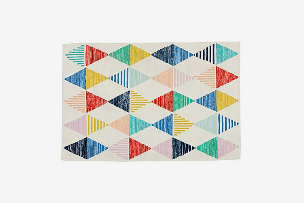 Crate&Kids Colorful Triangle Rug