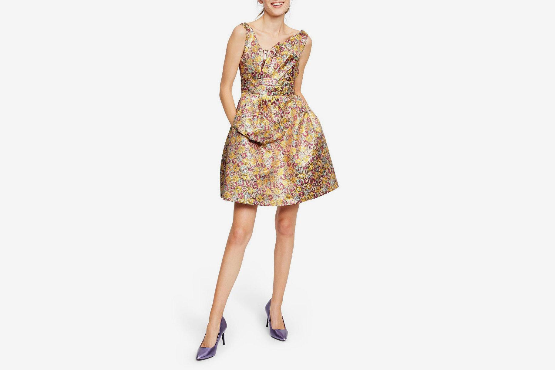 Zac Posen for Target Floral Print Sleeveless Brocade Mini Dress