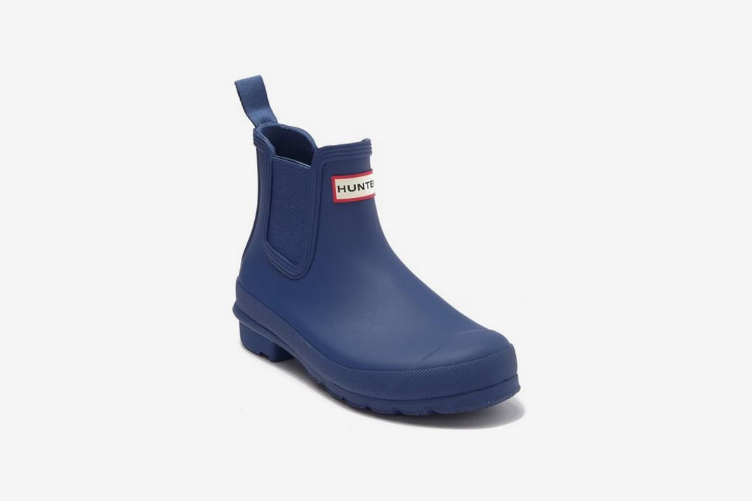 Hunter Original Waterproof Chelsea Rain Boot, Peak Blue