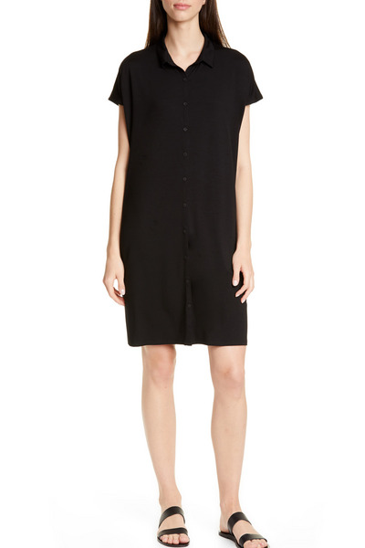 Eileen Fisher Tencel Lyocell Blend Shirtdress