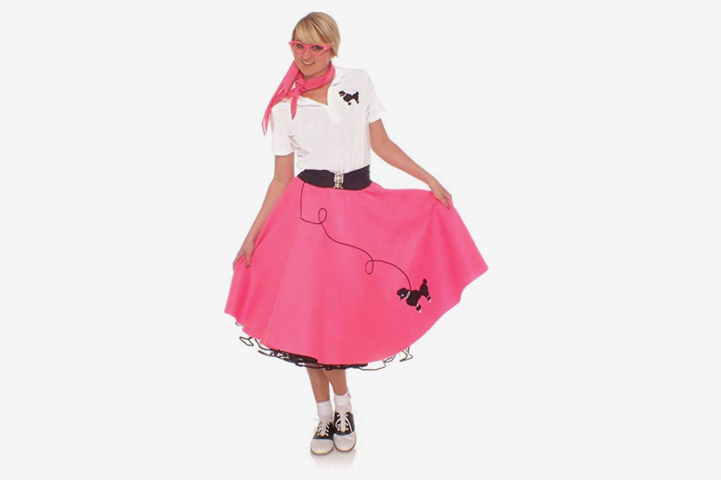 Hip Hop '50s Shop Adult 4-Piece Poodle-Skirt Costume Set