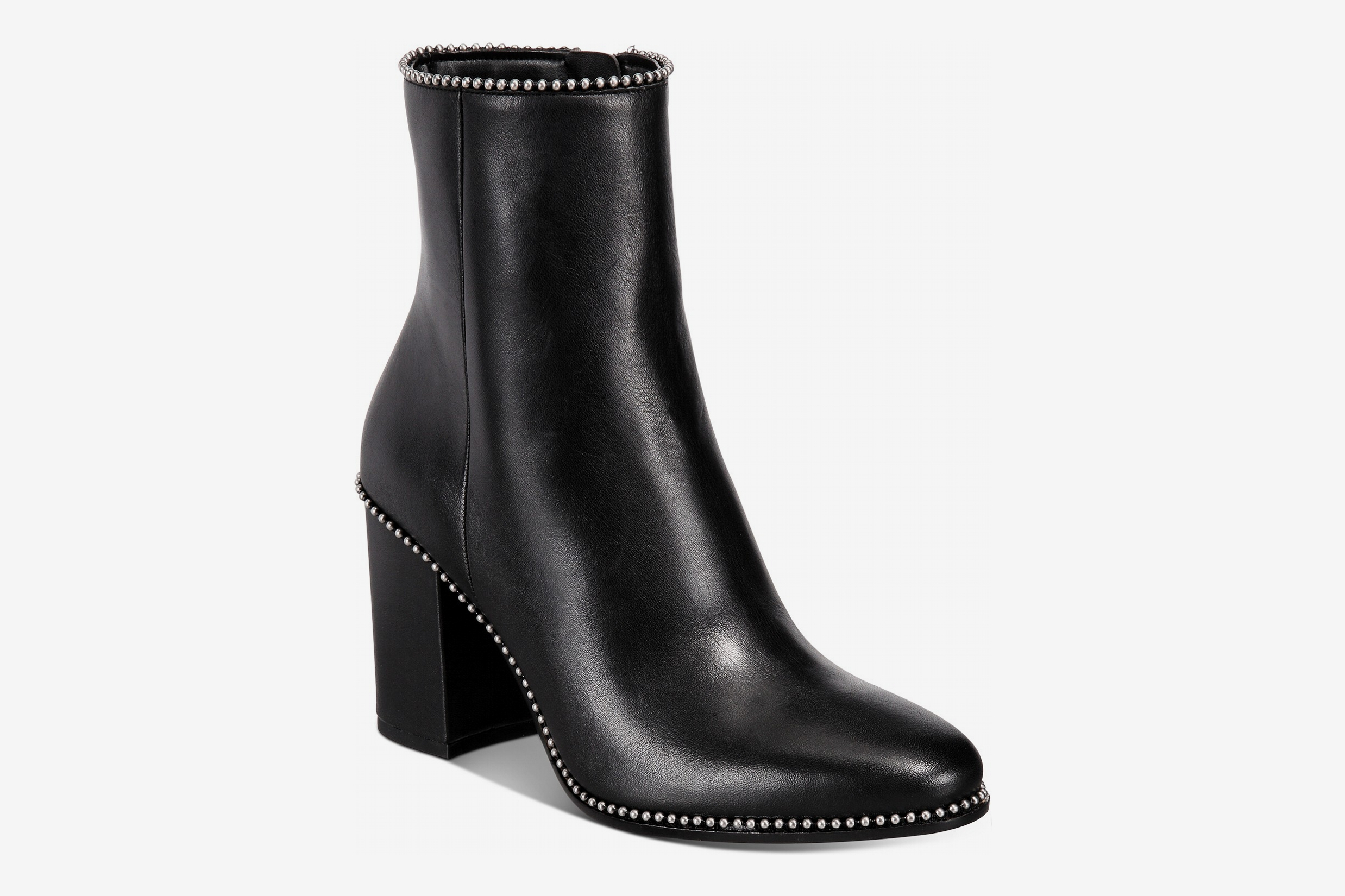 Coach Drea Ball-Trim Leather Ankle Boots