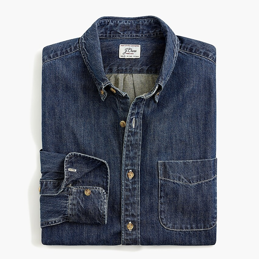J.Crew Slim Midweight Denim Shirt