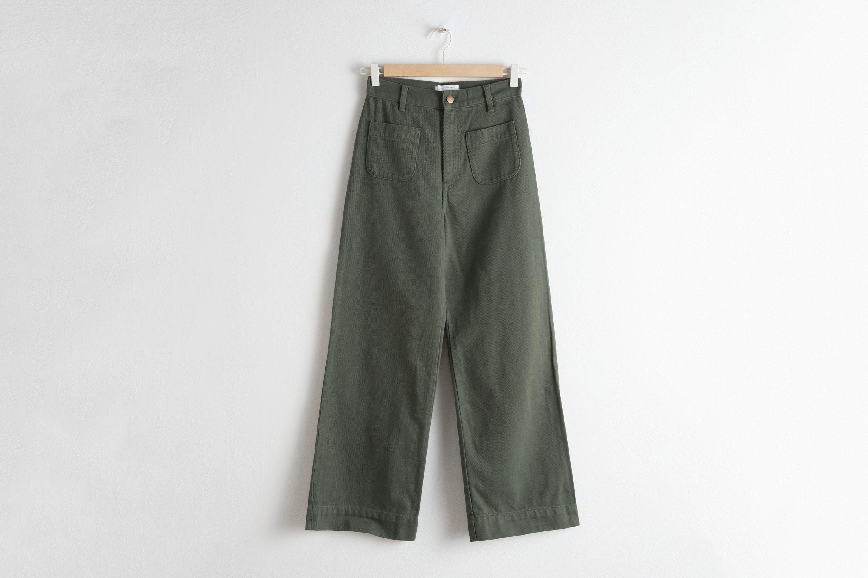 High Waisted Twill Pants