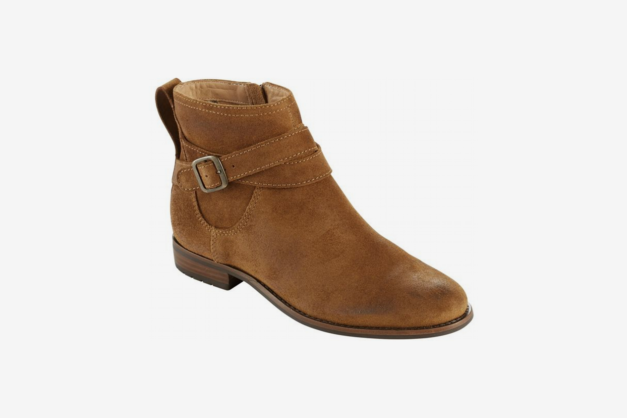 L.L. Bean Westport Ankle Strap Boots, Oiled Suede