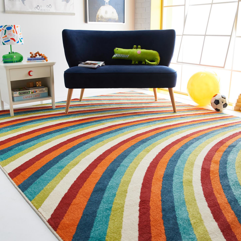 Drew Barrymore Flower Kids Rainbow Area Rug, 5' x 7'
