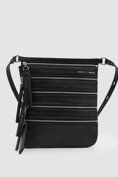 Kara Multi Zip Waist Bag in Black