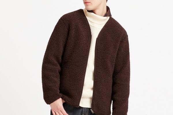 Uniqlo Men Pile-lined Fleece Cardigan