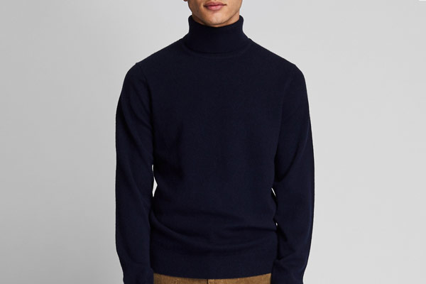 Uniqlo Men Cashmere Turtleneck Long-sleeve Sweater