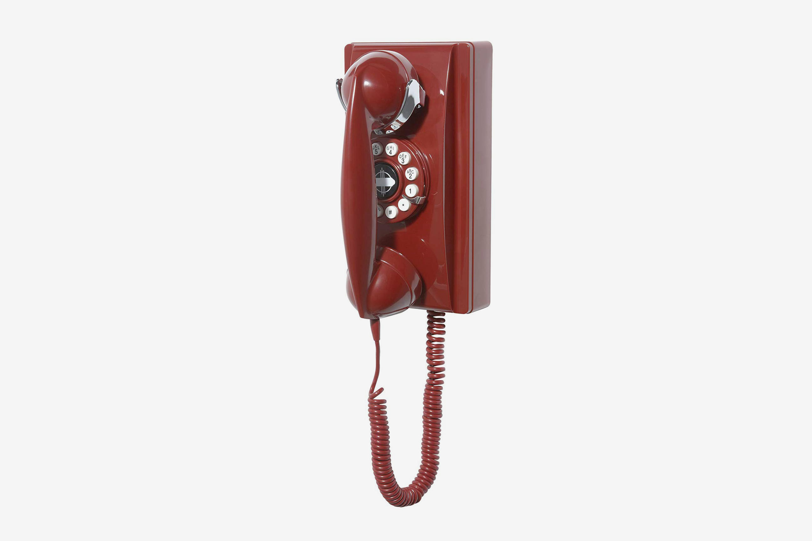 Crosley CR55-RE Wall Phone With Push-Button Technology