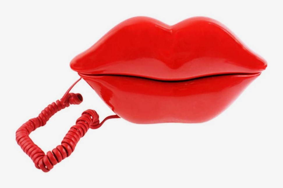 TelPal Red Mouth Telephone Wired Novelty Sexy Lip Phone