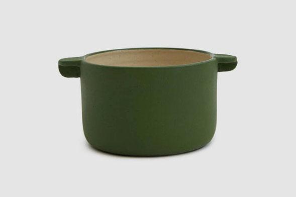 Workaday Handmade Small Workaday Casserole in Green