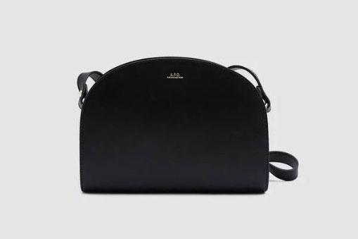 A.P.C. Demi-Lune Shoulder Bag in Black