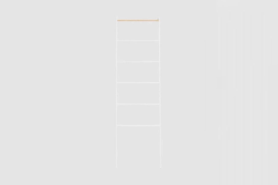 Yamazaki Home Tower Leaning Ladder Rack in White