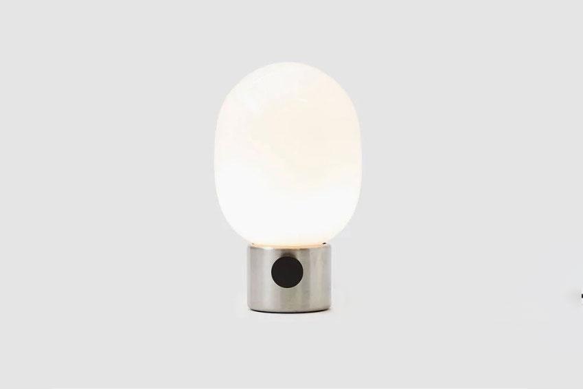 Menu JWDA Metalllic Table Lamp in Brushed Steel