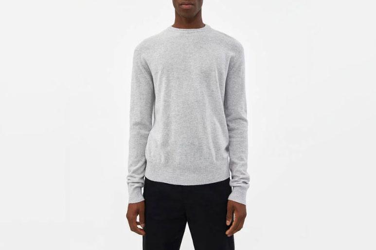 Acne Studios Niale Wool Sweater in Light Grey Melange