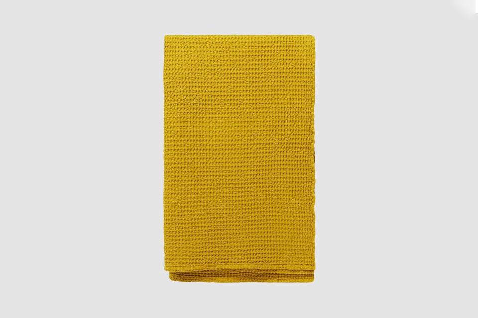 Hawkins New York Simple Waffle Sheet Towel in Mustard